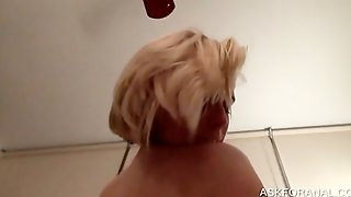 Pov Butt Fucking With Blonde Whore
