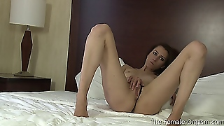 Newbie Canadian Coed First Real Female Masturbation To Orgasm Shoot
