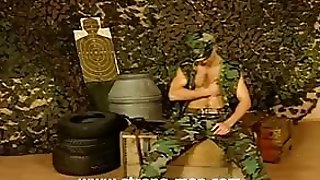 Amateur Military Stud Strips And Strokes