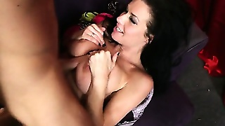 Yummy Brunette In Stockings Blows Cock And Gets Dutch-Fucked