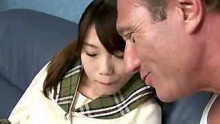 Pretty Japanese Schoolgirl Fucked By A Horny Hung French Guy