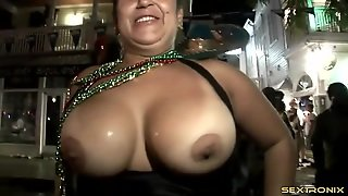 Party Sluts On The Street Flash Their Big Tits