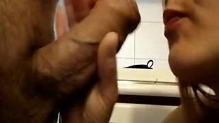 Wife Cock Blowing In The Kitchen