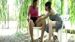 Kim Fucked By A Man And A Woman