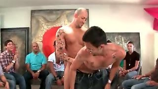 Muscled Stripper Makes Gay Gang Go Crazy
