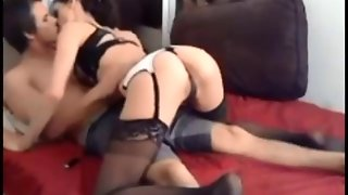 Amateur Teen In Stockings On Real Homemade