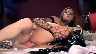 Teasing And Fucking In Boots And Fishnet Stockings