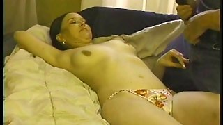 Vivacious Babe With Natural Tits Getting Fucked Hardcore In A Amateur Home Made Clip