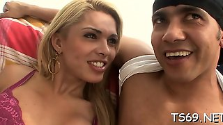 Lascivious Sheboy Is Very At Deep-Throat Blowjobs