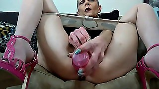 Gilf Masturbation With Dildo