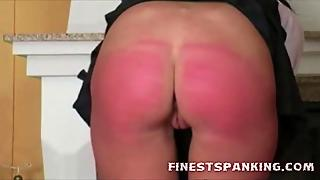 Sore Red Spanked Ass