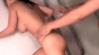 Japanese Naked Teacher Taking Pussy Pounding From Behind