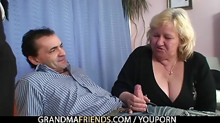 Cum Hungry Grandma Shallows Two Cocks