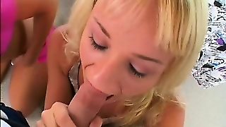 Cute Blonde Teen Joins A Milf And Her Man For A Pov Threesome