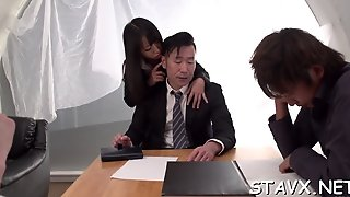 Asian In Stockings Wild Threesome