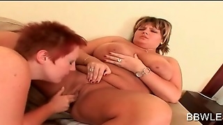 Lesbian Bbw Licks And Fingers Hungry Slick Pussy