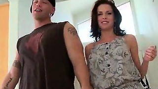 Sexy Milf Humping Large Pecker On The Back Seat