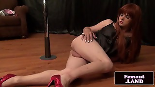 Sensual Femboy Grinding On Pole