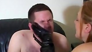 Mistress Spits On Slaves Face And Slaps It Continuously