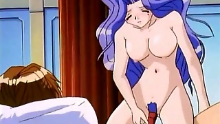 Big Breasts Hentai Girl Sits On A Dick