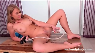 Babe Fills A Glass Toy With Her Pee And Plays