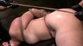 Strapon Lesbian Dominated By Femdoms Fingered