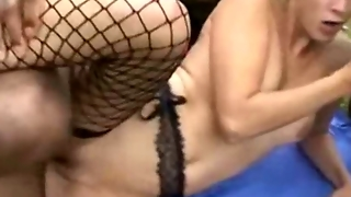 Gangbang Outdoor For A French Blonde