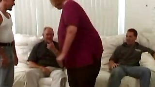 Big Bitch Sitting On The Couch With The Men