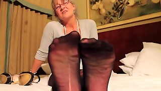 Mature Feet Right In Your Face