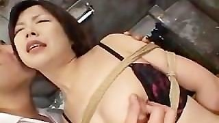 Asian In Stockings Tied Up