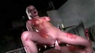 Silvia Saint Covered In Paint