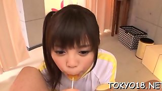 Japan Young Babe Sucks Dong In Severe Modes Until Jizzed