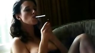 Smoking Anastasia Gets Kinky In Nylons
