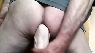 Thick Dildo Deep In My Ass