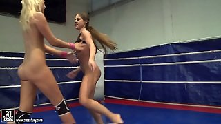 Wicked Brown Haired Hoe Cathy Heaven Has A Nude Fight