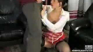 Old Cock Fucks Russian Maid