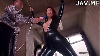 Babe In Latex Fucked & Toyed