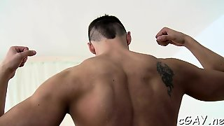 Young Stud Is Arousing Stud With Salacious Schlong Engulfing
