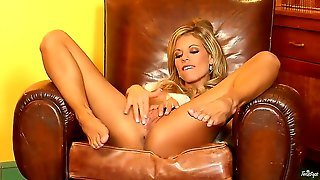 Blonde Princess Nicole Graves Is Ready To Spread Her Legs Wide And Show Off Her Slippery Pink Vagina Which Needs Some Attention And A Long Middle Finger Deep!
