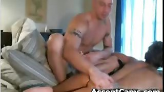 Couple Naked On Bed Massaging