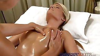 Massage Rohot Tanned Babe With Big Natural Tits Oiled Up And Massaged Then Got Horny And Fucked Her Masseur