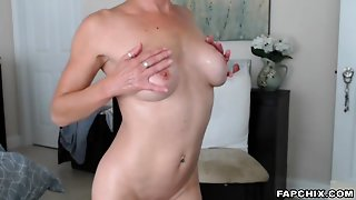 Lustful Blonde Mom Ever Masturbates And Squirts On Webcam