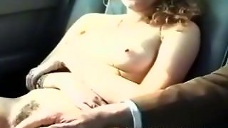 Naked Teen In Car Flashing To Passing Truckers