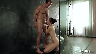 Beautiful Bj And Doggystyle In The Shower
