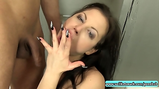 Sucking Till The Cum Spurts In Her Mouth