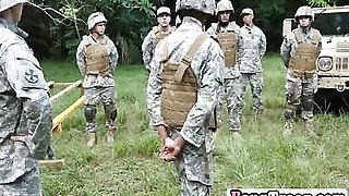 Gay Soldiers Engage In Steamy Orgy Outdoors