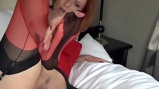 Red Nylon Milf Fj