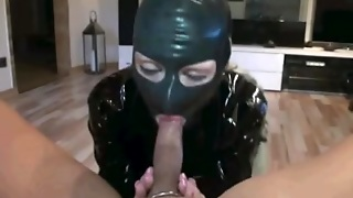 My Wife Wearing A Latex Mask Gave Me The Best Blowjob Ever