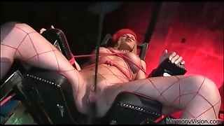 Mistress Licks And Fingers Beauty In Bondage