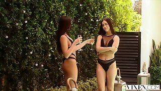 Vixen Naughty College Students Sneak Into A Pool And Fuck